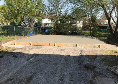 Concrete-poured